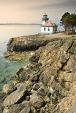 Lime Kiln Lighthouse on San Juan Island Stock Photo