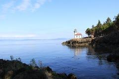 Lime Kiln Lighthouse. On San Juan Island, WA USA Royalty Free Stock Photography