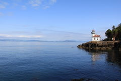 Lime Kiln Lighthouse. On San Juan Island, WA USA Royalty Free Stock Photos