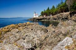 Lime Kiln Lighthouse, USA Royalty Free Stock Photography