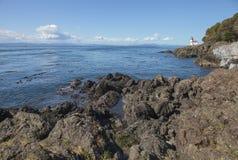 Lime Kiln Point Lighthouse. On San Juan Island, Washington State, facing Strait Juan de Fuca Stock Photos