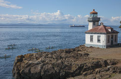 Lime Kiln Point Lighthouse Stock Image
