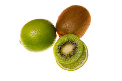 Lime and kiwi Royalty Free Stock Images