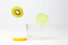 Lime kiwi and lemon Royalty Free Stock Photo