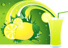 Lime layout Royalty Free Stock Images