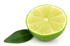 Lime and leaf Stock Photography