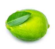 Lime with leaf Stock Photos