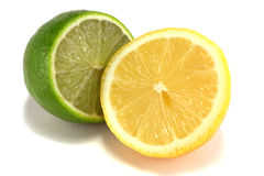 Lime and lemon Stock Images
