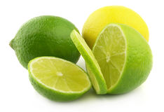Lime and lemon Royalty Free Stock Image