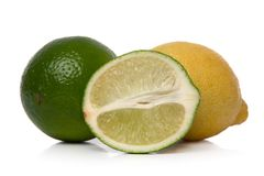 Lime and lemon Royalty Free Stock Photography