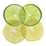 Lime and lemon background Royalty Free Stock Images