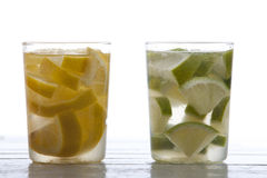 Lime and lemon drink Stock Image