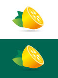 Lime or lemon fruit slice. Lemonade juice logo Royalty Free Stock Photos