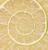 Lime, lemon infinity spiral abstract background. Royalty Free Stock Photo