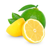 Lime and lemon Stock Photo
