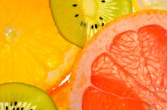 Lime, lemon, kiwi and orange slices Royalty Free Stock Photo