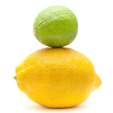Lime and lemon Stock Image