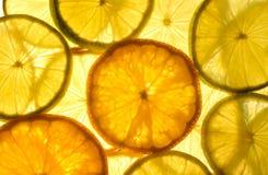Lime, lemon and orange Royalty Free Stock Images