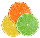 Lime lemon orange Stock Photos