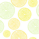 Lime, lemon and orange slices seamless pattern. Royalty Free Stock Photography