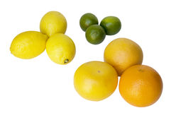 lime, lemon, oranges Royalty Free Stock Image