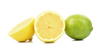 Lime and lemon slices. Royalty Free Stock Image