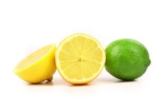 Lime and lemon slices. Royalty Free Stock Photography