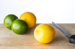 Lime and lemon Stock Photography