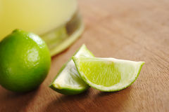 Lime and Lemonade Stock Photo