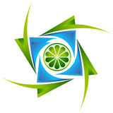 Lime logo Royalty Free Stock Photo