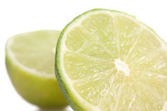 Lime macro. Macro. Lime on white background Royalty Free Stock Photo