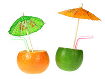 Lime and mandarine drink royalty free stock photography