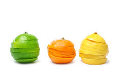 Lime mandarine limon Stock Images