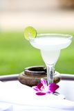Lime margarita in an outdoor setting Stock Photos