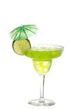Lime margarita with an umbrella royalty free stock images