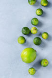 Lime and mini limes Stock Images