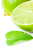Lime with mint Royalty Free Stock Image