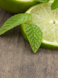 Lime with mint Stock Photos