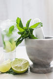 Lime and mint drink Stock Photography