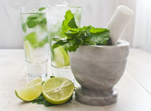 Lime and mint drink Royalty Free Stock Photo