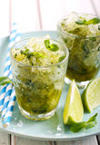 Lime and mint granita Stock Photos
