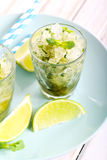 Lime and mint granita Royalty Free Stock Photography