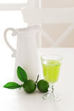 Lime mint homemade lemonade Royalty Free Stock Images