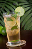 Lime and Mint Iced Tea Royalty Free Stock Photo