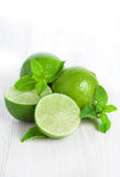 Lime and mint isolated Royalty Free Stock Image