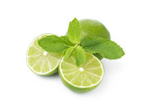 Lime with mint leaves Royalty Free Stock Photography