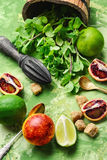 Lime,mint and orange Stock Photos