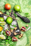 Lime,mint and orange Royalty Free Stock Photos
