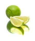 Lime on mirror Stock Photos