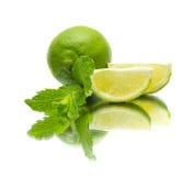 Lime on mirror Royalty Free Stock Photos